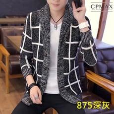 CPMAX 韓版帥氣連帽針織衫 男毛衣連帽外套 連帽外套 針織外套 針織上衣 男毛衣外套 C96