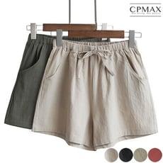 CPMAX 高腰棉麻短褲 顯瘦韓版三分熱褲 W53
