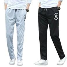 CPMAX 舒適休閒輕時尚 字標印花抽繩綁帶純色運動長褲 男長褲 P23