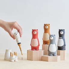 iThinking Bear Papa棘輪螺絲起子組 造型起子 MIT製 棘輪起子 動物造型 可愛造