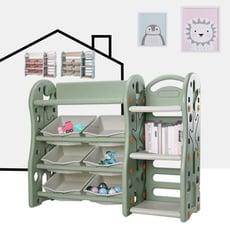 北歐玩具收納架 書櫃 收納架 儲物櫃  書架 置物架 玩具收納【組合4】