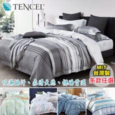 吸濕排汗天絲 鋪棉兩用被床包枕套四件組 / 加大尺寸‧新品多款任選