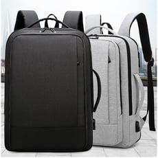 休閒防潑水零負重商務旅行電腦後背包