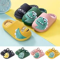 【STAR BABY】可愛恐龍造型棉布室內拖鞋