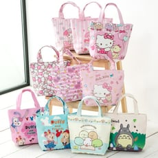 【STAR BABY】卡通童趣多用途 PU防水 小手提包/孩童便當袋/上班族外出午餐小提包