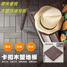 U-FIT】環保DIY止滑耐磨拼接式木塑地板(6入/箱)