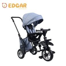 【Edgar】摺疊手推兒童三輪車腳踏車1-3周歲(手推車 輕便 折疊 嬰兒小孩童車2色可選)