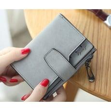 【ahappy172】韓系時尚多卡位女包皮夾 零錢包 明星款錢包  拉鏈短夾 時尚可愛拉鍊短夾