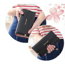 【ahappy172】韓系超大容量皮夾 多卡夾 零錢手機包 明星款錢包  拉鏈長夾  甜心長夾