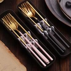 買一波▶高質感金屬拉絲環保餐具三件組 304不鏽鋼餐具組【Z90447】