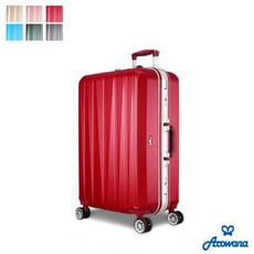 買一波▶Arowana晶燦光影鑽石紋耐刮鋁框旅行箱行李箱登機箱 25吋【Z90626】