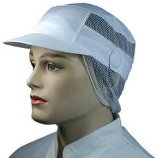 【現貨】食品帽  食品帽 網髮白圓耳平紋網帽