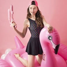 【SARBIS】連身裙泳裝附泳帽B982011