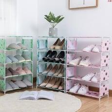 四層鞋架 學生宿舍鞋架 簡易鞋架 不鏽鋼簡易組合鞋櫃 置物架 玄關拖鞋架 DIY組合鞋架 防塵鞋架