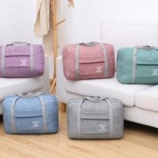 【簡單購】加大款豪華耐磨防潑水可褶疊手提旅行袋/行李箱拉桿包TCS117