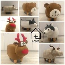 『Home+』可愛動物造型椅-迷你款 恐龍凳 草泥馬凳 羊駝凳 動物凳 小朋友穿鞋好朋友
