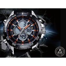 歐力馬EX1雙顯雙時區LED多功能運動錶,附贈原廠鐵盒