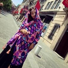 波西米亞棉麻披肩圍巾兩用長款格子防曬絲巾女超大沙灘巾紗巾1入