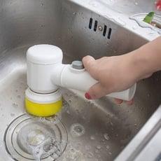 衛生間多功能強力電動清潔刷坐便器浴盆刷魚缸刷子廚房客廳地磚刷1入