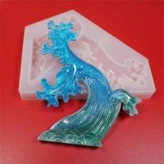 滴膠膜具閃粉磨具材料模具立體diy套裝心形裝飾物樹脂脫模海洋1入