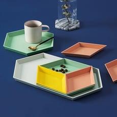 家用客廳歐式零食盤糖果盤創意現代簡約收納托盤分格瓜子盤干果盤1入
