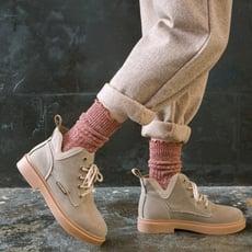 3雙裝花邊襪子日系粗毛線堆堆襪女秋冬棉線森系甜美木耳邊中筒襪1入