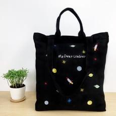 童趣刺繡帆布袋 手提袋 單肩包 帆布包 購物袋 環保袋