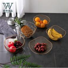 【好物良品】北歐簡約幾何家用客廳餐桌收納籃(花邊型高款) D-49