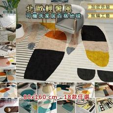 【好物良品】短毛地毯 防蹣高密度地墊 臥室地毯 客廳地毯 套房地毯- 款式|80x160cm F16