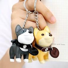 ENS【正品-公司貨】鑰匙圈 吊飾 可愛 掛飾 柴犬 兔子 柴柴 娃娃 哈士奇 鑰匙圈 情侶 扭蛋
