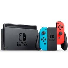 Nintendo 任天堂 Switch 電光藍紅 Joy-Con 主機+2遊戲片 超值組