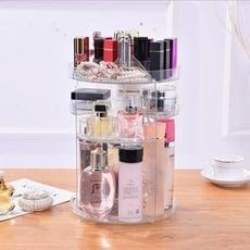艾比讚 旋轉化妝品收納盒【L147】360度旋轉 圓形桌面透明壓克力 旋轉化妝架 化妝箱 化妝盒