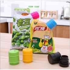 艾比讚 瓶蓋式食品保鮮密封夾【L192】不挑色 瓶蓋式密封出料嘴 零食封口夾 圓形封口夾 食品保鮮