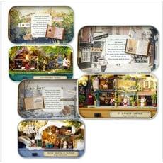【小鐵盒劇場CH】DIY小屋盒子劇場手工拼砌玩具帶燈創意diy送女友情人節禮物有意義袖珍屋