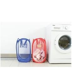 可折疊大號髒衣籃【XU017】顏色隨機混發 居家家用網格炫彩便攜式衣物收納籃