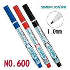 雄獅SIMBALION No.600 酒精性奇異筆 油性奇異筆 耐水 1.0mm  1入20支