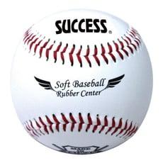 成功SUCCESS S4102 安全軟式縫線棒球 [高耐用度] 1入3顆
