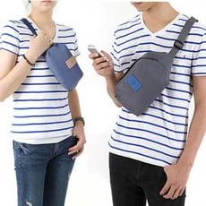 旅行多功能防潑水防盜貼身胸包腰包,大小款任選,4色可選