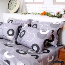 LUST寢具 【新生活eazy系列-普普灰】雙人6X6.2-/床包/枕套組、台灣製