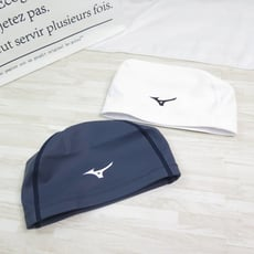 mizuno swim 2way accessories 矽膠泳帽  n2gw0562-白色 黑色i
