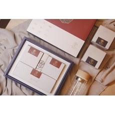 【中秋漢方茶禮盒】冰糖菊花茶◆花旗蔘茶◆保溫雙層耐熱玻璃瓶◆整盒10小包◆每包10g《順發漢方》