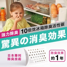 【優錳佳】冰箱救星!10倍除臭冰箱活性碳告別酸臭味
