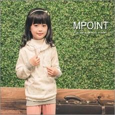 MIT-【MPoint】滿版銀蔥印花長版棉T-女童