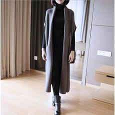 韓版加長針織寬鬆連身裙