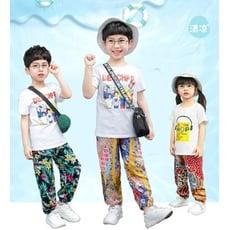 兒童綿綢薄款防蚊燈籠褲