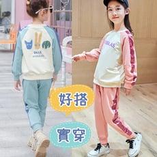 韓版棉質兒童休閒套裝