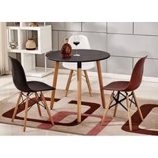 餐桌 桌子 伊姆斯桌 80CM三角圓桌 洽談桌 飯桌 木桌 圓桌 歐式 北歐小戶型奶茶店吃飯桌子