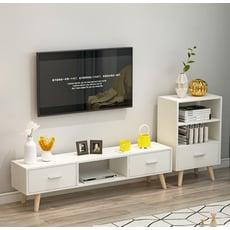 櫃子收納櫃 電視櫃 儲物櫃 北歐電視櫃 三抽電視櫃 北歐簡約現代時尚電視櫃 客廳電視櫃組合 電視機櫃