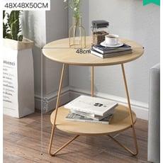 桌子 茶几 邊幾 圓幾 圓桌 48CM 北歐沙發邊幾客廳迷你鐵藝茶幾簡約型沙發床頭圓桌陽臺小桌子茶幾