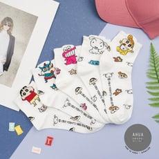 韓國襪子 滿版立體耳朵蠟筆小新中筒襪【K0637】